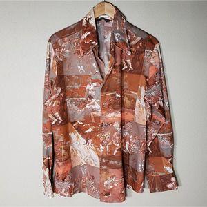 Vtg Men's Playboy Leroy Neiman Shirt Sports L